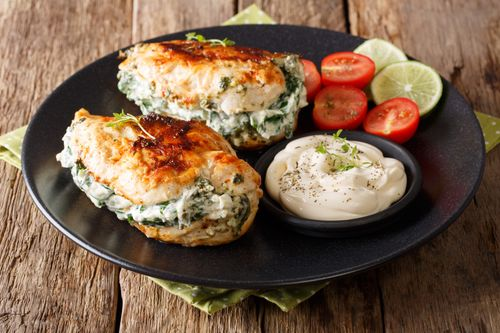 Baked spinach chicken breast